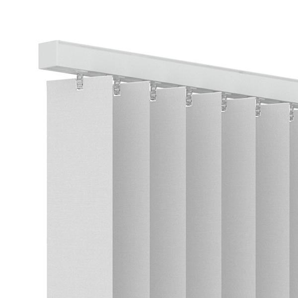 Afbeelding van Standaard maat lamellen stof lichtdoorlatend Wit