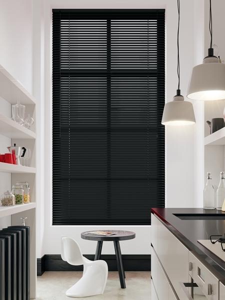 Afbeelding van Jaloezie Aluminium 25mm Zwart gemelleerd DEC25121