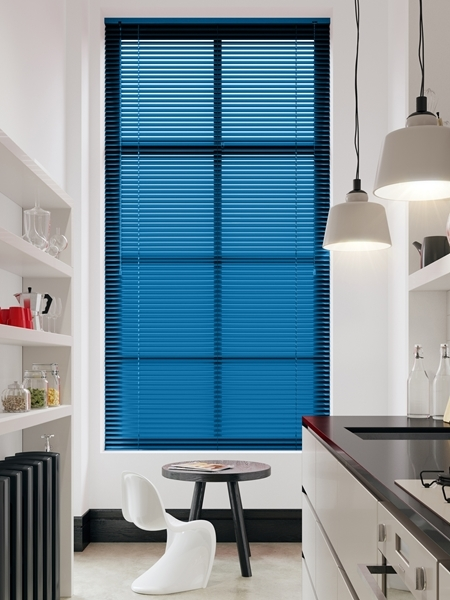 Afbeelding van Jaloezie Aluminium 25mm Blauw metallic DEC25124