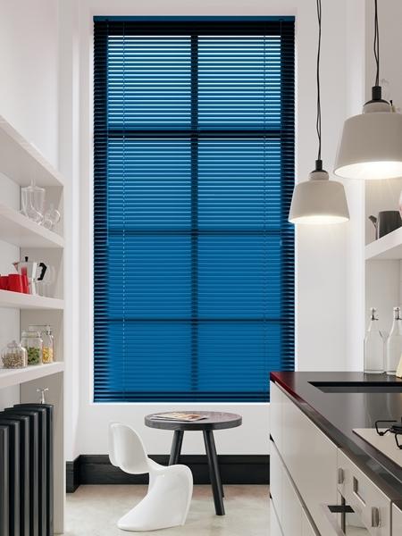 Afbeelding van Jaloezie Aluminium 25mm Blauw metallic DEC25126