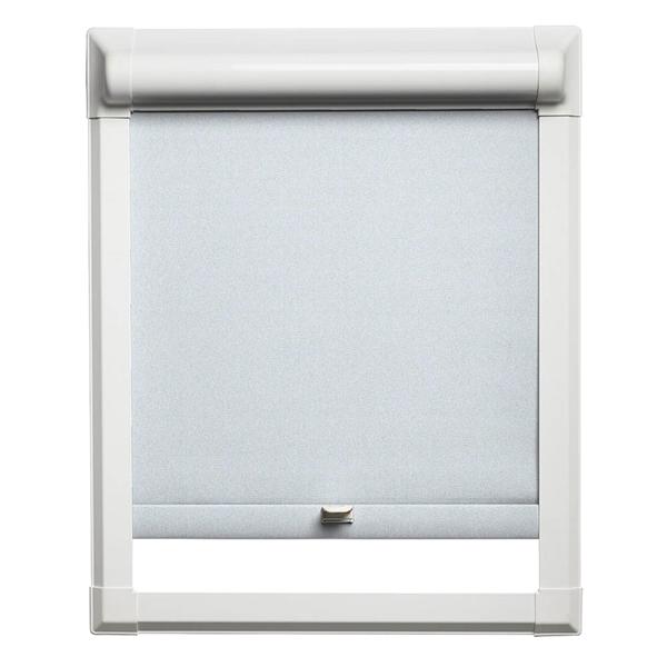 Afbeelding van Rolgordijn klik en klaar smartfit semi-transparant - licht grijs / wit