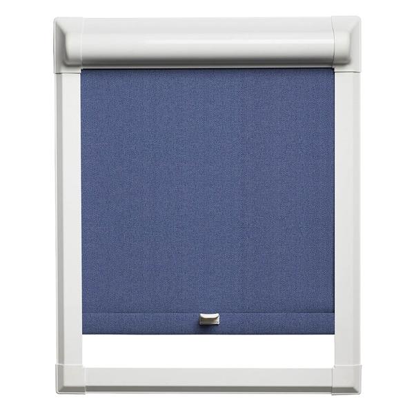 Afbeelding van Rolgordijn klik en klaar smartfit semi-transparant - Blauw