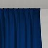 Afbeelding van Dim-out satijn look gordijnen op maat Uni kleur Ultramarijn blauw - Phoenix
