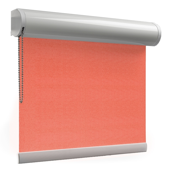 Afbeelding van Rolgordijn XL luxe cassette rond - Roze/Rood Semi transparant