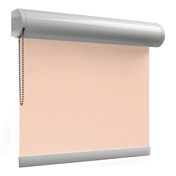 Afbeelding van Rolgordijn XL luxe cassette rond - Roze zalm Semi transparant