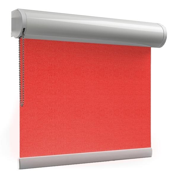 Afbeelding van Rolgordijn XL luxe cassette rond - Rood gala Semi transparant