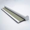 Afbeelding van Rolgordijn brede ramen Cassette rond - Glans bruingrijs met streep Transparant
