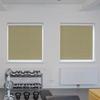 Afbeelding van Rolgordijn brede ramen Cassette rond - Glans goud beige met streep Transparant