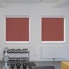 Afbeelding van Rolgordijn brede ramen Cassette rond - Glans rood Transparant