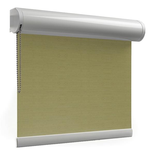 Afbeelding van Rolgordijn brede ramen Cassette rond - Glans olijfgroen Transparant