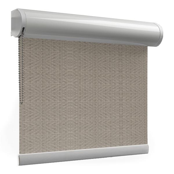 Afbeelding van Rolgordijn brede ramen Cassette rond - Touw met streep Transparant