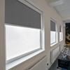 Afbeelding van Rolgordijn brede ramen Cassette rond - Luxe donkergrijs  gemeleerd Transparant