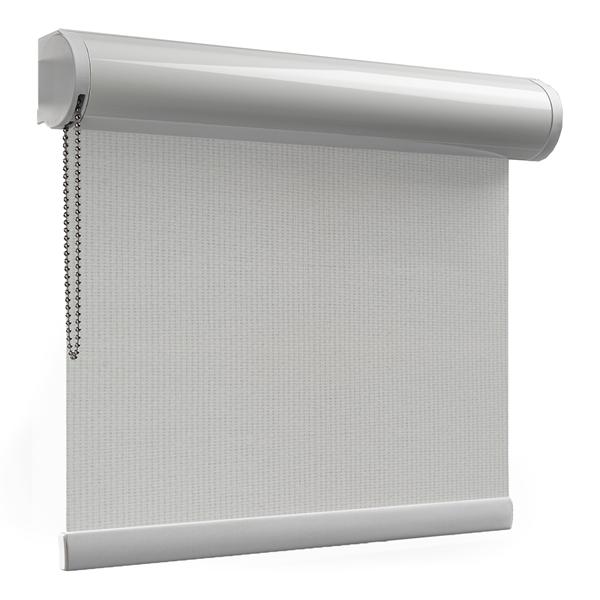 Afbeelding van Rolgordijn brede ramen Cassette rond - Creme geweven Transparant