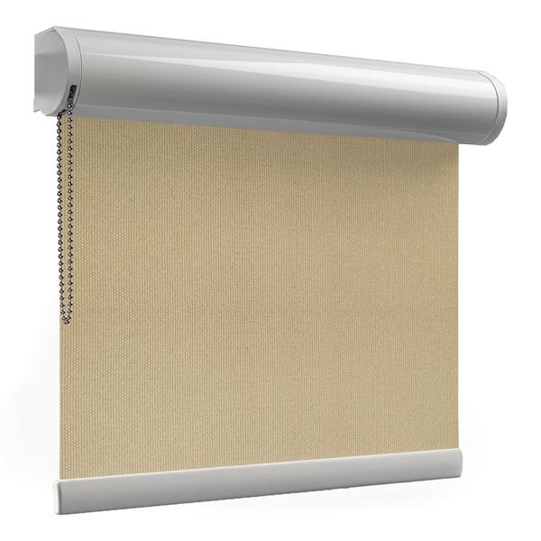 Afbeelding van Rolgordijn brede ramen Cassette rond - Zand geweven Transparant