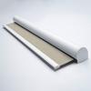 Afbeelding van Rolgordijn brede ramen Cassette rond - Beige  ouderwets Transparant