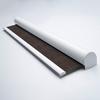 Afbeelding van Rolgordijn brede ramen Cassette rond - Chocolade bruin Transparant