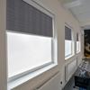 Afbeelding van Rolgordijn brede ramen Cassette rond - Zilvergrijs Transparant