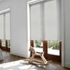 Afbeelding van Rolgordijn brede ramen Cassette rond - Parelgroen Transparant