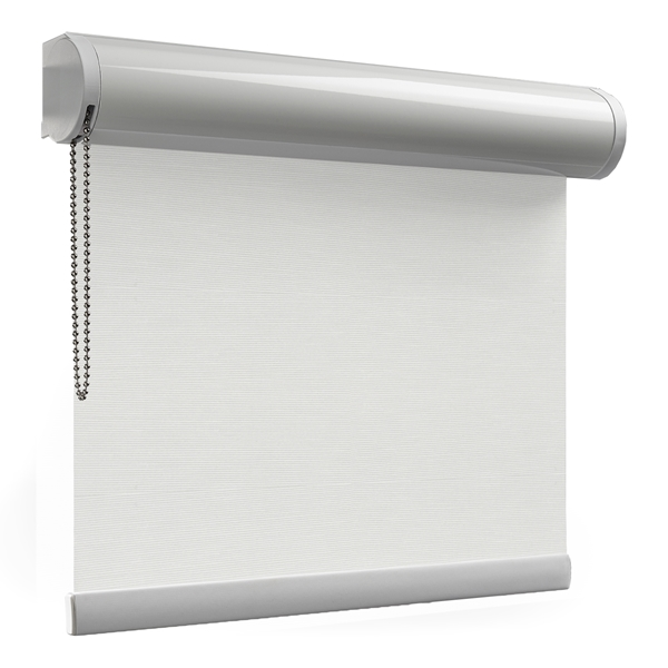 Afbeelding van Rolgordijn brede ramen Cassette rond - Wit zand Transparant