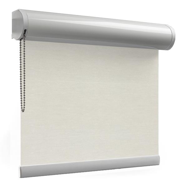 Afbeelding van Rolgordijn brede ramen Cassette rond - Crème Transparant