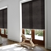 Afbeelding van Rolgordijn brede ramen Cassette rond - Zwart Transparant