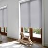 Afbeelding van Rolgordijn brede ramen Cassette rond - Lichtgrijs turqoise Transparant