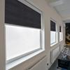 Afbeelding van Rolgordijn brede ramen Cassette rond - Donkerblauw marine Transparant