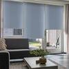 Afbeelding van Rolgordijn op maat Zijsteunen - Lichtblauw pastel Verduisterend