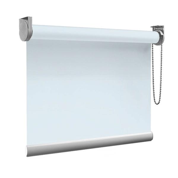 Afbeelding van Rolgordijn op maat Zijsteunen - Licht telegrijs Verduisterend