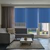 Afbeelding van Rolgordijn op maat Zijsteunen - Blauw denim Verduisterend