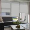 Afbeelding van Rolgordijn op maat Montagesteunen - Wit glans met ribbel Semi transparant