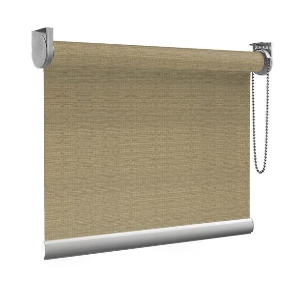 Afbeelding van Rolgordijn op maat Montagesteunen - Bruingrijs gemeleerd small Semi transparant