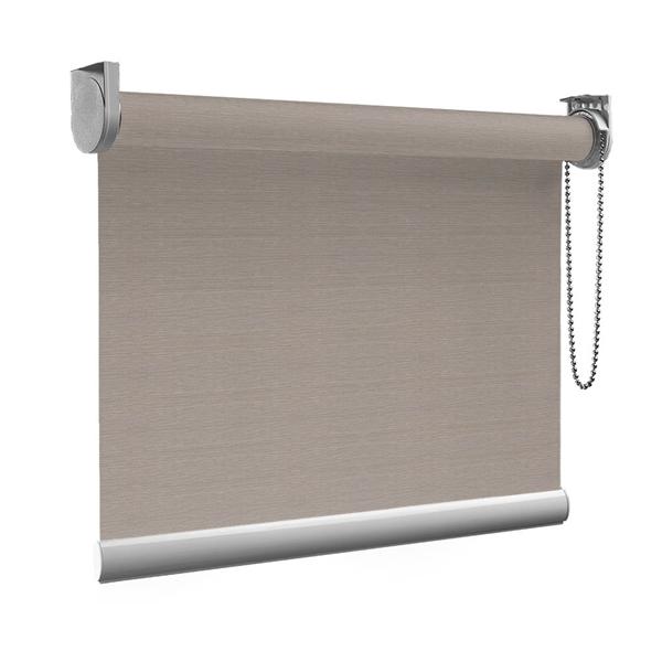 Afbeelding van Rolgordijn op maat Montagesteunen - Grijs met bruin Semi transparant