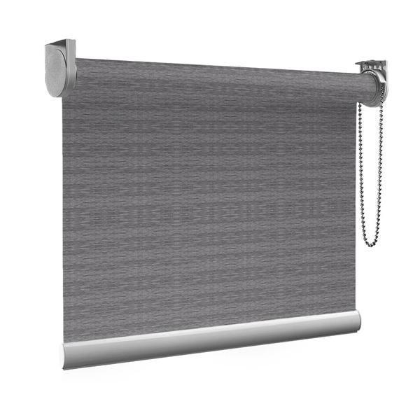Afbeelding van Rolgordijn op maat Montagesteunen - Grijsbruin gemeleerd Semi transparant