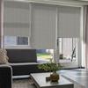 Afbeelding van Rolgordijn op maat Montagesteunen - Beige bruin gemeleerd Semi transparant