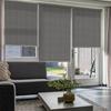 Afbeelding van Rolgordijn op maat Montagesteunen - Modern grijs bruin small Semi transparant