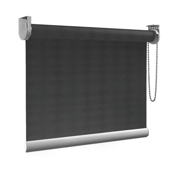 Afbeelding van Rolgordijn op maat Montagesteunen - Ouderwets grijs Semi transparant
