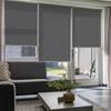 Afbeelding van Rolgordijn op maat Montagesteunen - Retro grijs Semi transparant