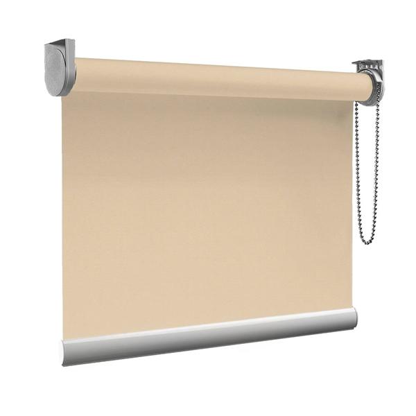 Afbeelding van Rolgordijn op maat goedkoop - Creme donkerbeige Semi transparant