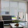 Afbeelding van Rolgordijn op maat goedkoop - Licht grijs / blauw Semi transparant