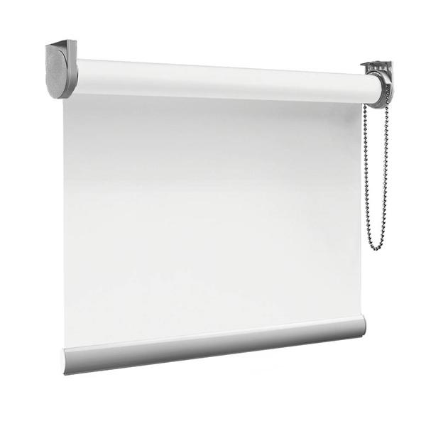 Afbeelding van Rolgordijn op maat Montagesteunen - Gebroken wit Semi transparant