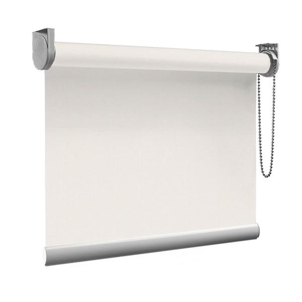 Afbeelding van Rolgordijn op maat Montagesteunen - Wit beige Semi transparant
