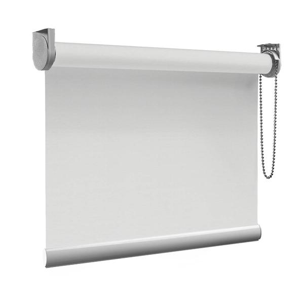 Afbeelding van Rolgordijn op maat Montagesteunen - Stoer wit Semi transparant