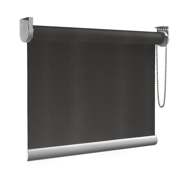 Afbeelding van Rolgordijn op maat Montagesteunen - Bruin zwart Semi transparant