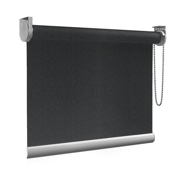 Afbeelding van Rolgordijn op maat Montagesteunen - Zwart vintage Semi transparant