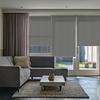 Afbeelding van Rolgordijn op maat Montagesteunen - Donker grijs gemeleerd Semi transparant