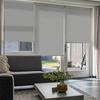 Afbeelding van Rolgordijn op maat Montagesteunen - Zilver grijs Semi transparant
