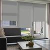 Afbeelding van Rolgordijn op maat Montagesteunen - Lichtgrijs gemeleerd Semi transparant