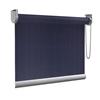 Afbeelding van Rolgordijn op maat goedkoop - Donker blauw verticaal gemeleerd Semi transparant