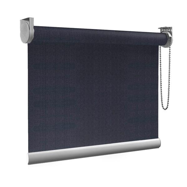 Afbeelding van Rolgordijn op maat goedkoop - Donker blauw asfalt Semi transparant